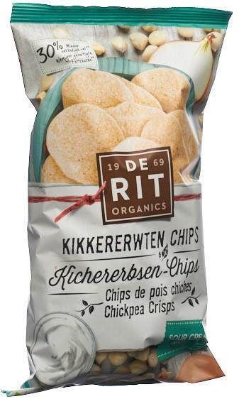 DE RIT Kichererbsen-Chips Sour Cream Oni Bio 70 g