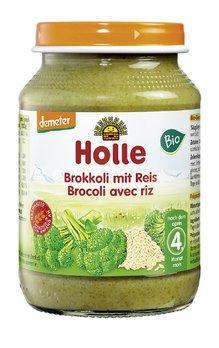 HOLLE Brokkoli mit Reis Glas 190 g