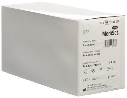 MEDISET Rundtupfer 4cm steril 30 Btl 2 Stk