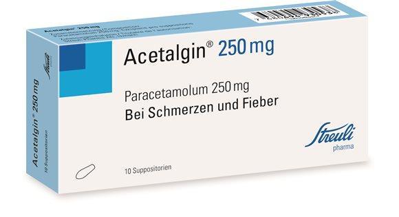 ACETALGIN Supp 250 mg 10 Stk