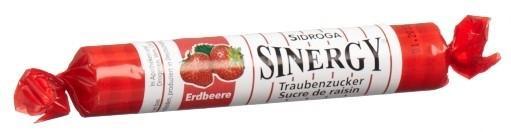 SINERGY Traubenzucker Erdbeere Rolle 40 g