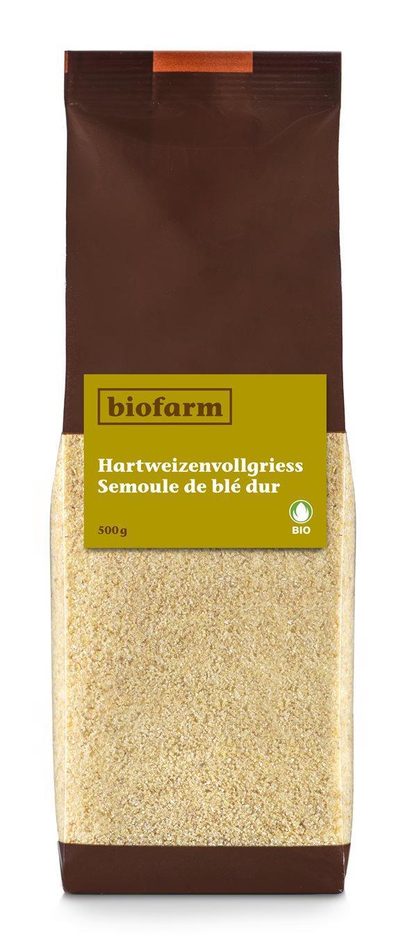 BIOFARM Hartweizenvollgriess Knospe Btl 500 g
