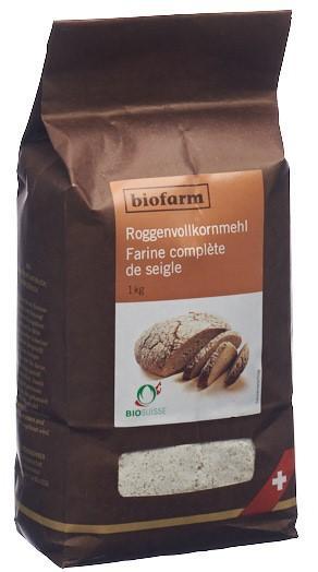 BIOFARM Roggen Vollkornmehl Knospe Btl 1 kg