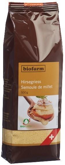 BIOFARM Hirsegries Knospe Btl 500 g