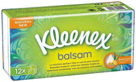 KLEENEX Balsam Taschentücher 12 x 9 Stk
