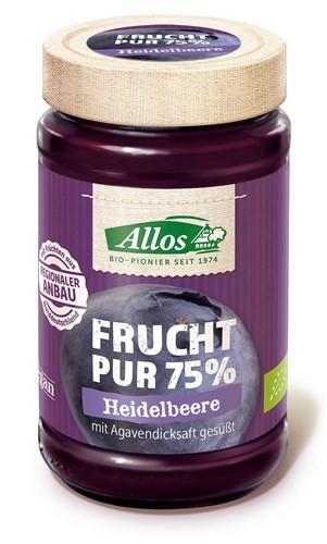 ALLOS Frucht Pur Konfitüre Heidelbeere Bio 250 g