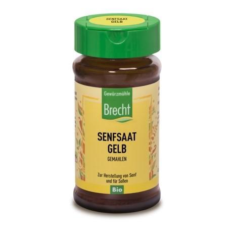 BRECHT Gelbe Senfsaat gemahlen Bio Glas 35 g