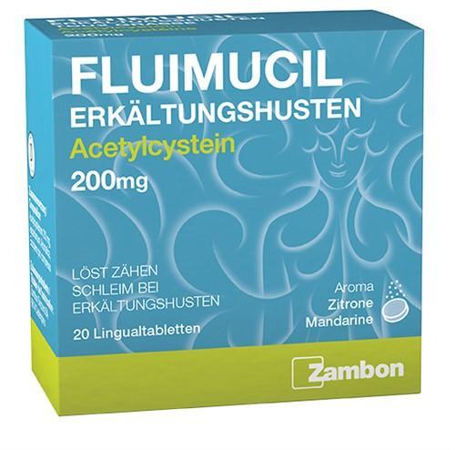 FLUIMUCIL Erkältungshus Lingual Tabl 200 mg 20 Stk