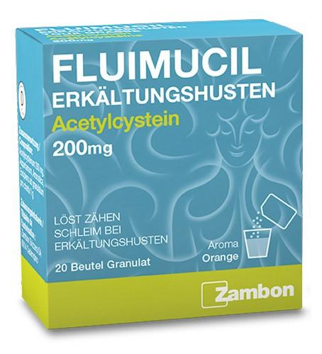 FLUIMUCIL Erkältungshusten Gran 200 mg Btl 20 Stk