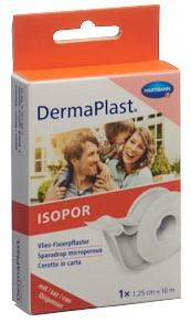 DERMAPLAST ISOPOR Fixierpf 1.25cmx10m vl we Disp