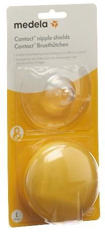 MEDELA Contact Brusthütchen L 24mm mit Box 1 Paar