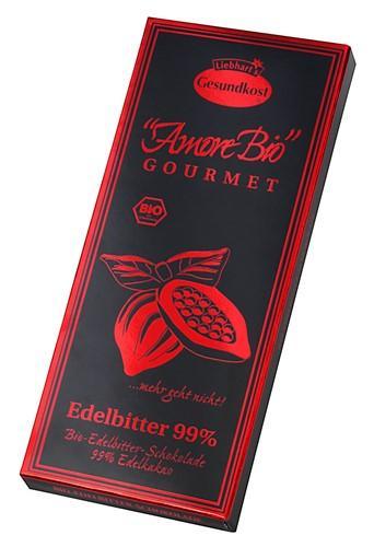 LIEBHARTS Edelbitt Schoko 99% Kakao Tafel Bio 80 g