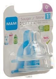 MAM Sauger 1 0+m 2 Stk
