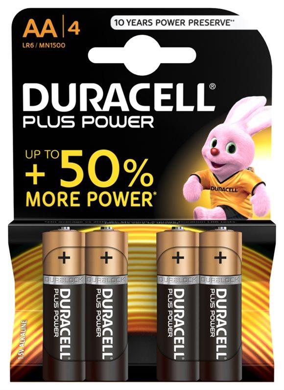 DURACELL Batt Plus Power MN1500 AA 1.5V 4 Stk