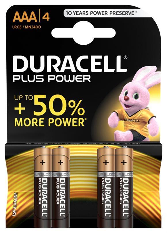 DURACELL Batt Plus Power MN2400 AAA 1.5V 4 Stk