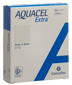 AQUACEL EXTRA Hydrofiber Verband 5x5cm 10 Stk