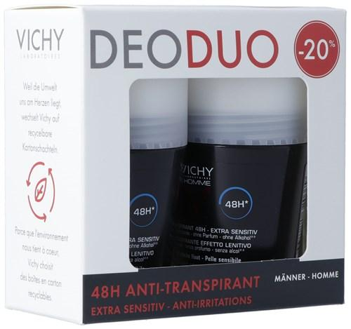 VICHY Homme Deo empf H 48H Duo-20% 2 Roll-on 50 ml