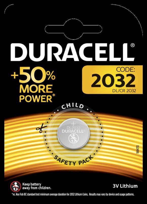 DURACELL Batt CR2032 3V Lithium B1 XL Blist