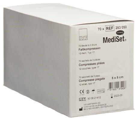 MEDISET IVF Faltkomp Typ 17 5x5cm 12f 70 x 3 Stk