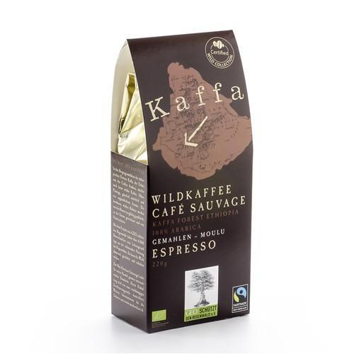 ORIG FOOD Wildkaffee Kaffa Espresso gemahlen 220 g