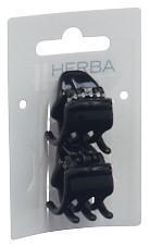 HERBA Klammer 2.2cm schwarz 2 Stk
