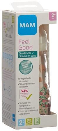 MAM Feel Good Glasflasche 260ml 2+m