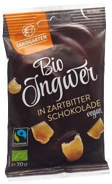 LANDGARTEN Ingwer Zartbitterschoko Bio Fairtr 70 g