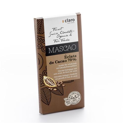 CLARO Schokolade éclats de cacao Bio 100 g