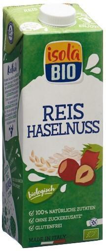 ISOLA BIO Haselnuss Reis Drink Tetra 1 lt