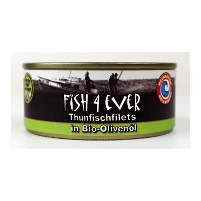 FISH4EVER Thunfischfilets in Bio-Olivenöl Ds 160 g