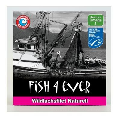 FISH4EVER Wildlachsfilets naturell Ds 160 g