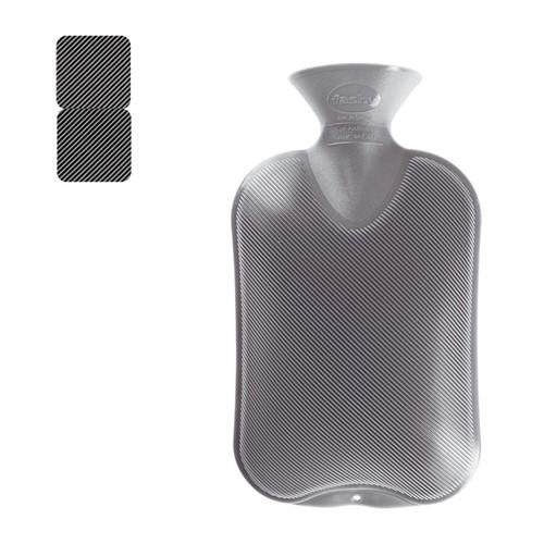 FASHY Wärmeflasche 2l Doppellamelle anthrazit
