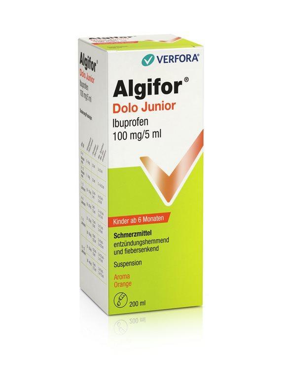 ALGIFOR Dolo Junior Susp 100 mg/5ml Fl 200 ml