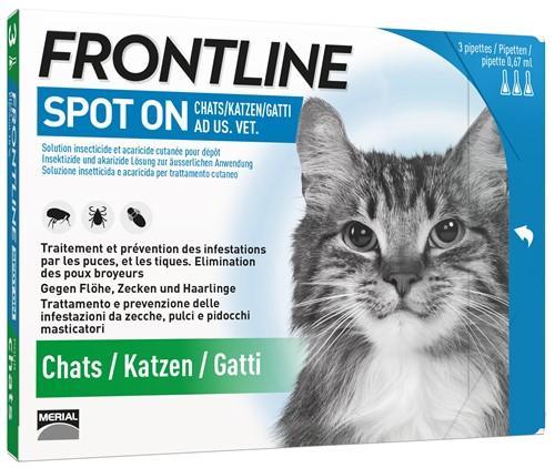 FRONTLINE Spot On Katze Liste D 3 x 0.5 ml