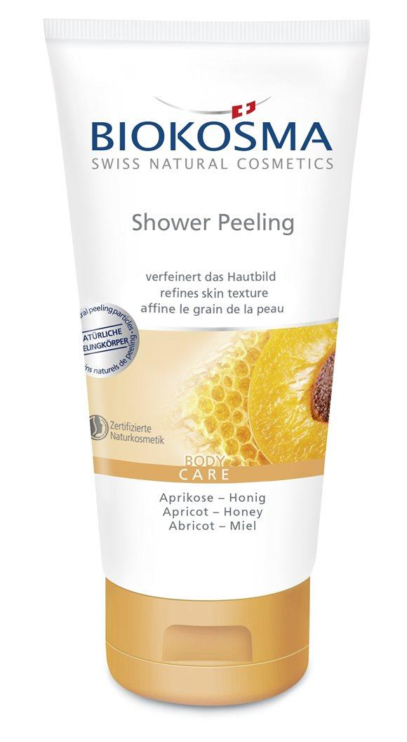 BIOKOSMA Shower Peeling Aprikose-Honig 150 ml