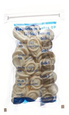 DR. JUNGHANS Fingerlinge Latex Gr3 puderfr 100 Stk