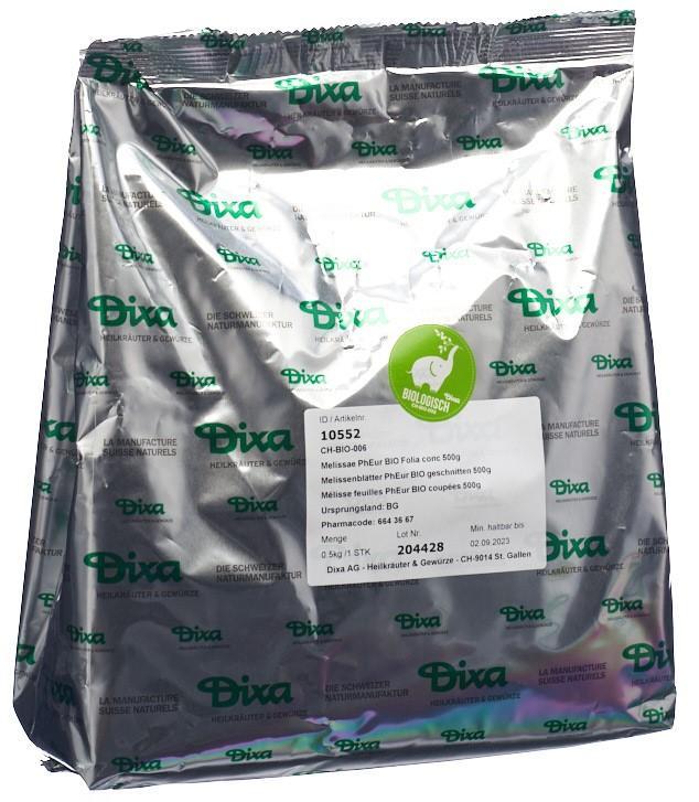 DIXA Melissenblätter PhEur BIO geschnitten 500 g