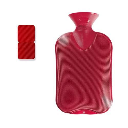 FASHY Wärmflasche 2l Doppellamelle cranberry
