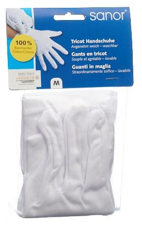 SANOR Tricot Handschuhe M 1 Paar