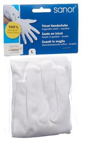 SANOR Tricot Handschuhe L 1 Paar