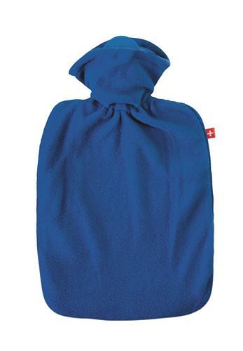 EMOSAN Wärmflasche Klassik Vlies blau