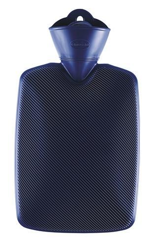 EMOSAN Wärmflasche Halblamelle blau