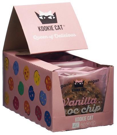 KOOKIE CAT Vanilla Choc Chip Cookie 12 x 50 g