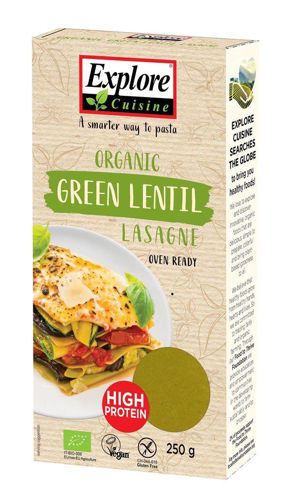 EXPLORE CUISINE Lasagne aus Grün Linsen Bio 250 g