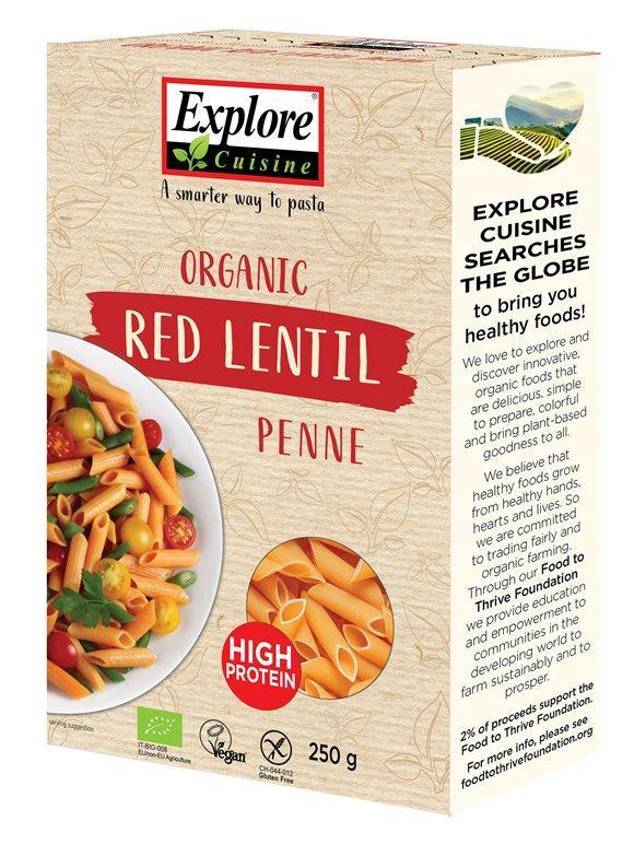 EXPLORE CUISINE Penne aus Roten Linsen Bio 250 g