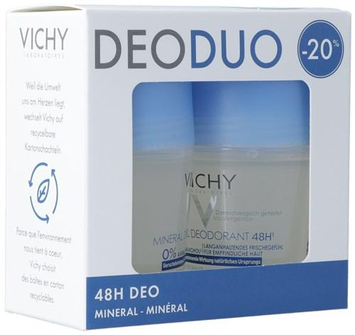 VICHY Deo Mineral 48H Roll on Duo 2 x 50 ml