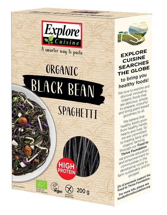 EXPLORE CUISINE Spaghetti Schwarz Bohnen Bio 200 g