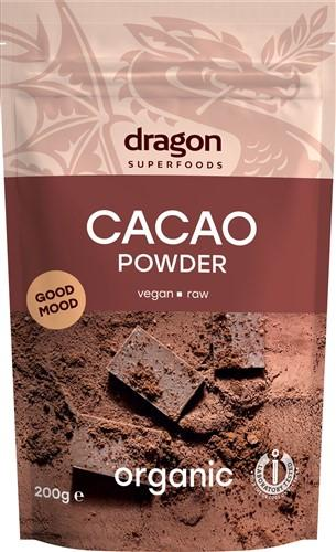 DRAGON SUPERFOODS Kakao Pulver roh 200 g