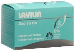 LAVILIN Deodorant Tücher Box 10 Stk