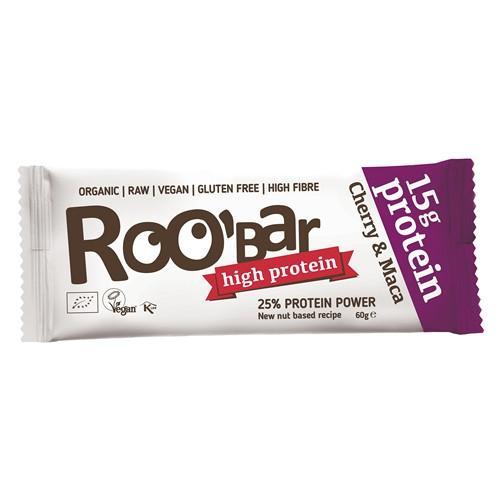 ROOBAR Protein-Riegel Cherry&Maca 60 g